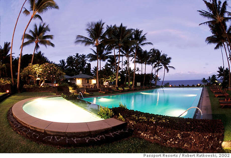 TRAVEL-HAWAII-MAUI -- The Wellness pool and whirlpool located near the Sea Ranch Cottages at the Hotel Hana-Maui in Hana, Hawaii is shown in this 2002 publicity photo. (AP Photo/Passport Resorts, Robert Ratkowski) Photo: ROBERT RATKOWSKI