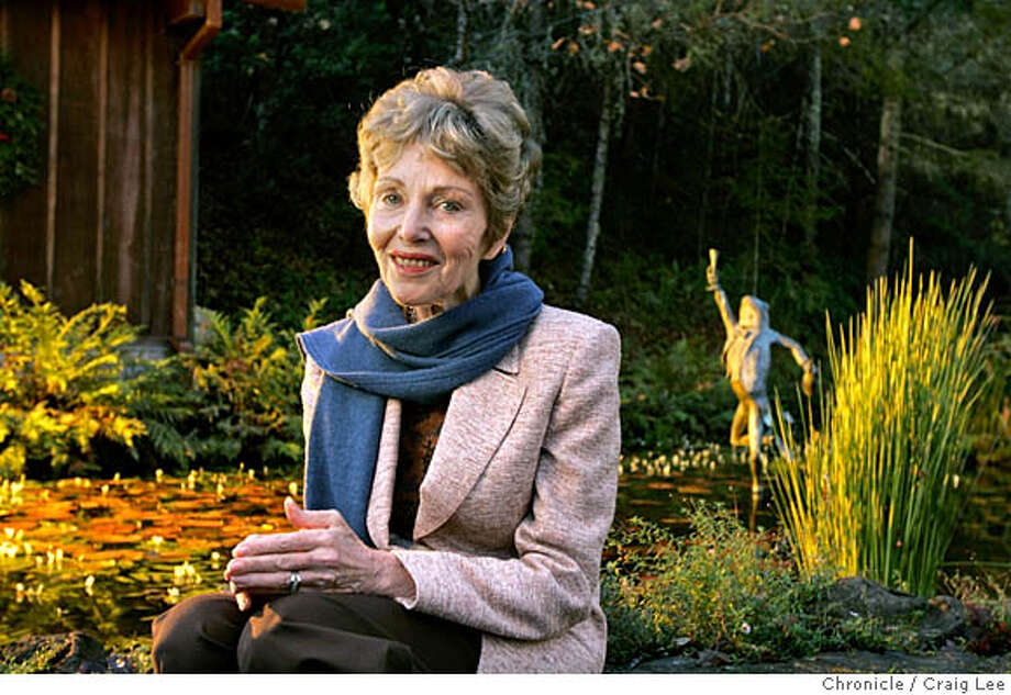 SPARKLING22_049_cl.JPG  Portrait of Jamie Davies, owner/founder of Schramsberg Vineyards, near their pond with the frog/riddler statue.  Event on 12/15/05 in San Francisco. Craig Lee / The Chronicle MANDATORY CREDIT FOR PHOTOG AND SF CHRONICLE/ -MAGS OUT Photo: Craig Lee