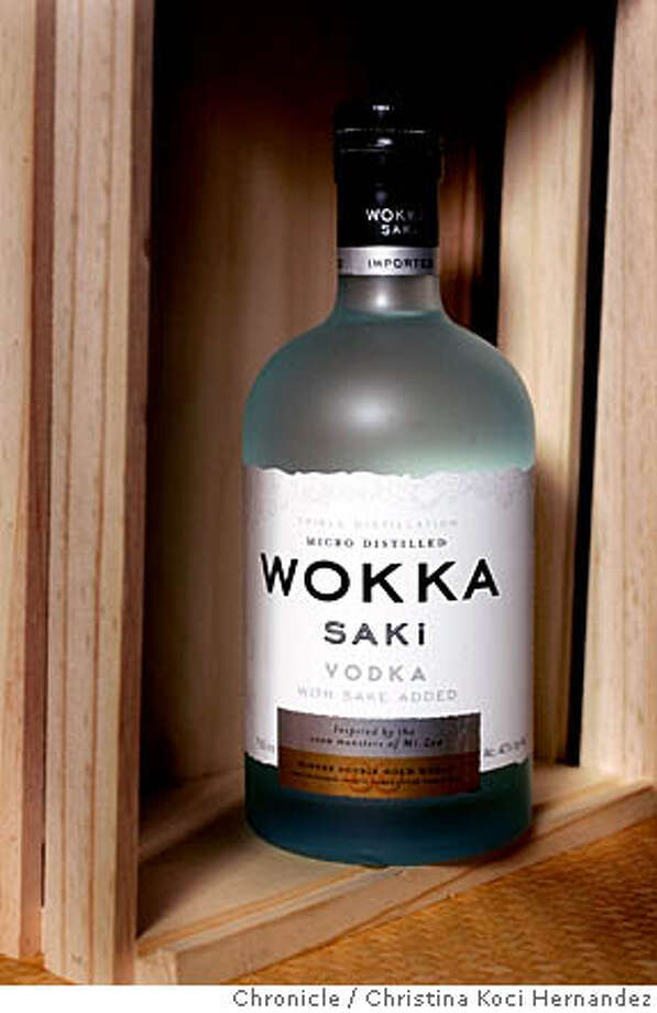 CHRISTINA KOCI HERNANDEZ/CHRONICLE  Please shoot a bottle of Wokka Saki Vodka, a blend of vodka and sake. Photo: CHRISTINA KOCI HERNANDEZ