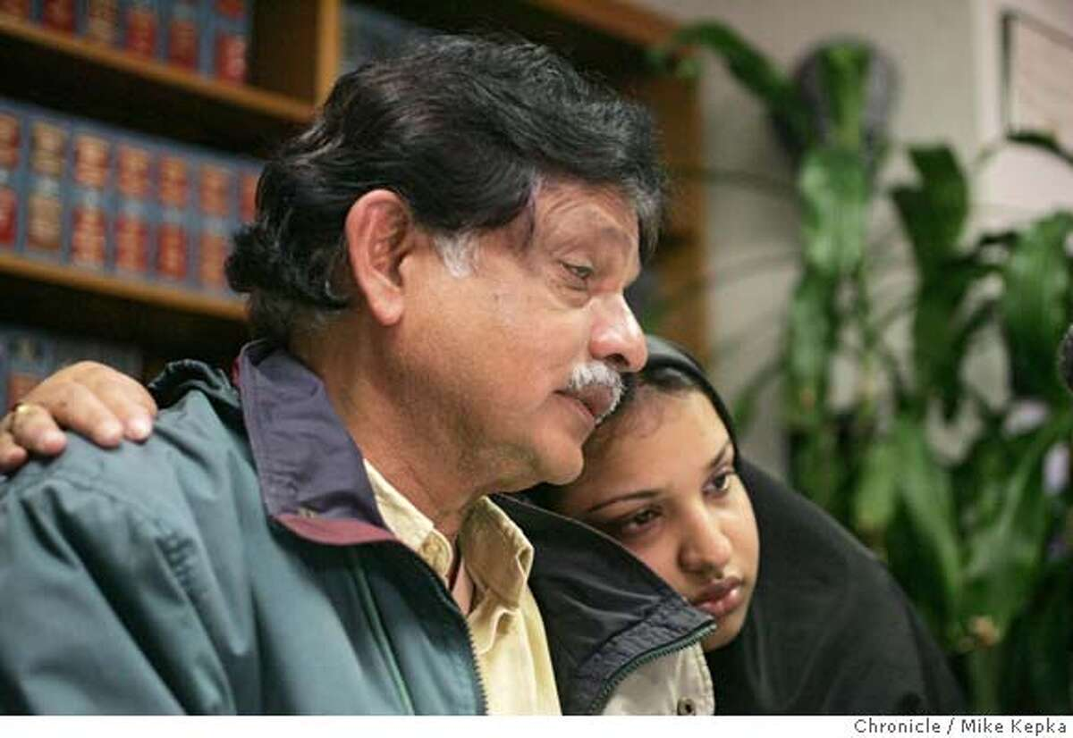 attari038seqn}_mk.JPG Husband, Tassaduq Attari and daughter Ruby Ali speak of their loss during a press conference held in San Jose after Alameda police this morning confirmed that a vehicle pulled from the water near the Grand Harbor in Alameda Tuesday night belongs to the missing Dr. Zehra Attari, who disappeared on Nov. 7. San Jose on date}. Mike Kepka / The Chronicle MANDATORY CREDIT FOR PHOTOG AND SF CHRONICLE/ -MAGS OUT