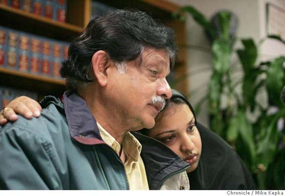 attari038seqn}_mk.JPG Husband, Tassaduq Attari and daughter Ruby Ali speak of their loss during a press conference held in San Jose after Alameda police this morning confirmed that a vehicle pulled from the water near the Grand Harbor in Alameda Tuesday night belongs to the missing Dr. Zehra Attari, who disappeared on Nov. 7.  San Jose on date}. Mike Kepka / The Chronicle MANDATORY CREDIT FOR PHOTOG AND SF CHRONICLE/ -MAGS OUT Photo: Mike Kepka