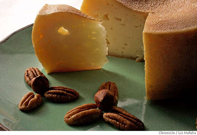 CHEESE22_026_LH.JPG Torta del Casar, a sheep's milk cheese from Spain.  Photographed by Liz Hafalia on 12/8/05 in San Francisco, California. SFC Creditted to the San Francisco Chronicle/Liz Hafalia Photo: Liz Hafalia