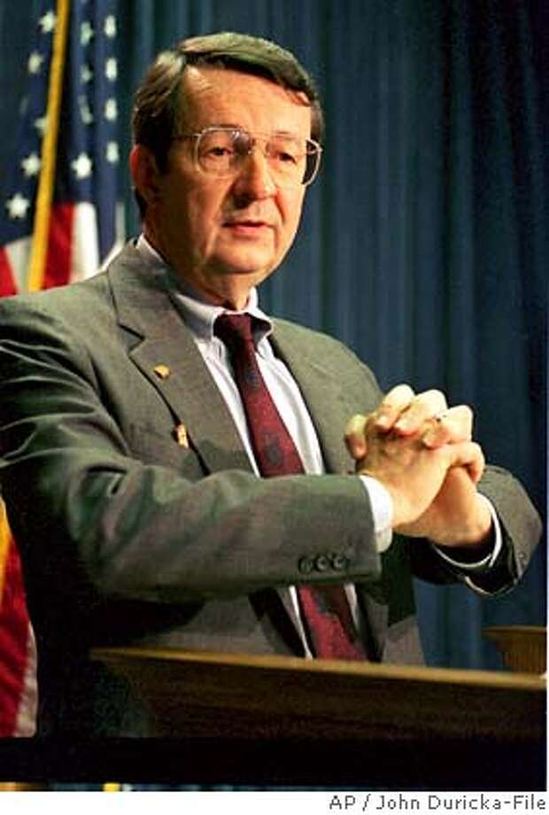 **FILE** An October 1993 photo of Rep. David Obey, D-Wis. After promising unprecedented openness regarding Congress' pork barrel practices, House Democrats are moving in the opposite direction as they draw up spending bills for the upcoming budget year. (AP photo/John Duricka-File) AP FILE PHOTO FROM 1993 Photo: JOHN DURICKA