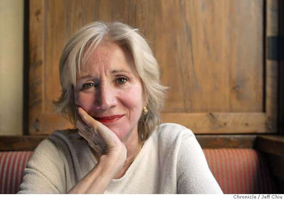 "OLYMPIA08B-C-18APR02-DD-JC-- Actress Olympia Dukakis, who is in the ACT's production of ""The Pleasure of Seeing You Again on Mother's Day,"" at Kokkari Estiatorio in San Francisco on Thursday night. Photo by Jeff Chiu / The Chronicle. CAT Photo: Jeff Chiu"