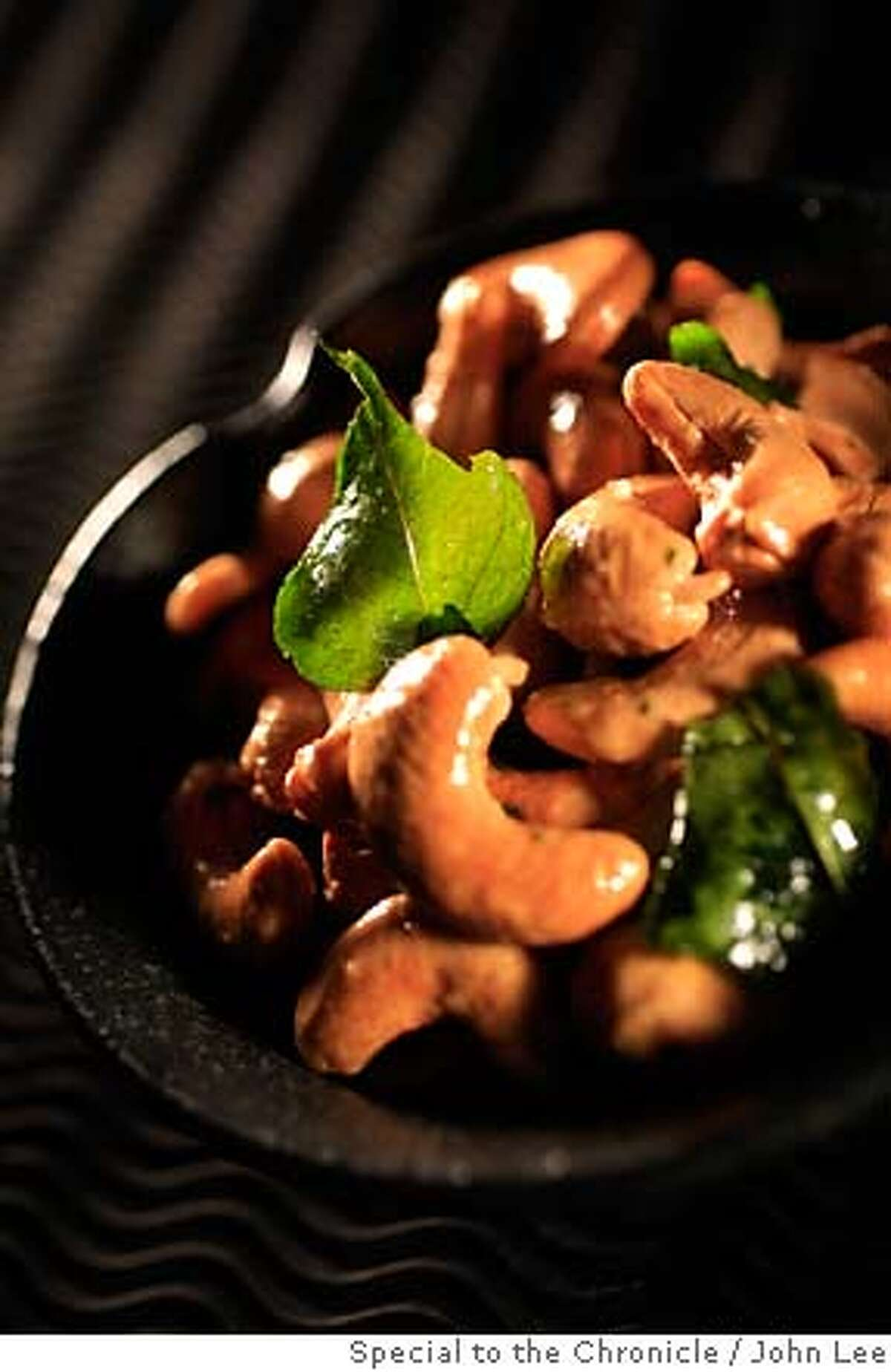 CURRYLEAVES11_05JOHNLEE.JPG Roasted Cashews with Curry Leaves. By JOHN LEE/SPECIAL TO THE CHRONICLE