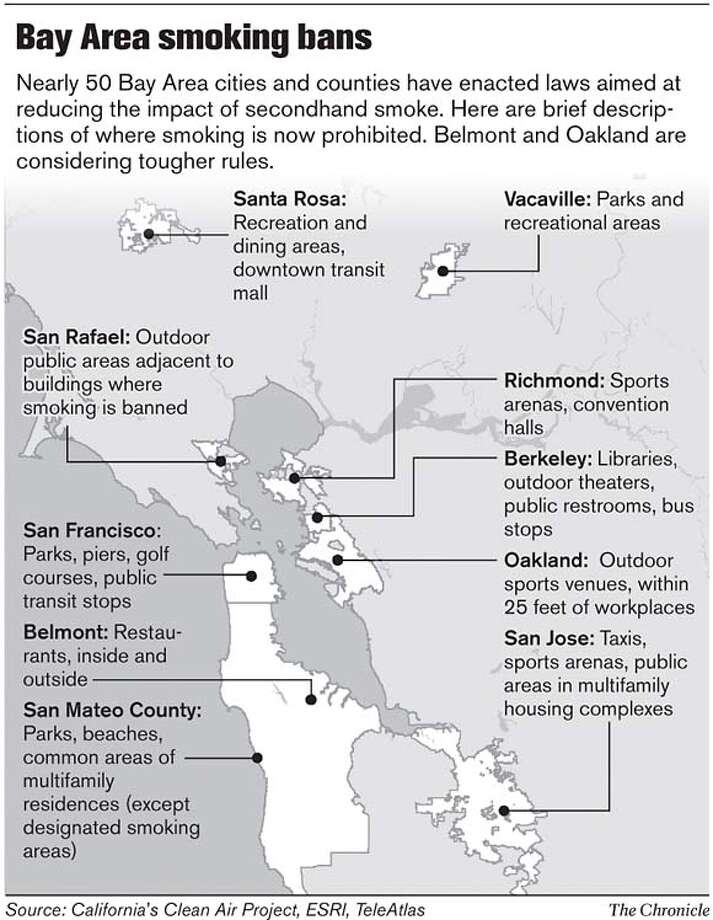 Bay Area Smoking Bans. Chronicle Graphic