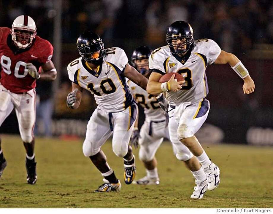 Steve Levy runs for 20 yards in the third quarter.  The Cal Bears vs Stanford Cardinal in the Big Game. Kurt Rogers PALO ALTO SFC  The Chronicle BIGGAME_390_kr.JPG Ran on: 11-20-2005  A jubilant Jeff Tedford gets corralled by his players toward a Gatorade dousing as the Bears enjoy their fourth-straight Big Game victory. Ran on: 11-20-2005  A jubilant Jeff Tedford gets corralled by his players before a Gatorade dousing as the Bears enjoy their fourth straight Big Game victory. MANDATORY CREDIT FOR PHOTOG AND SF CHRONICLE/ -MAGS OUT Photo: Kurt Rogers