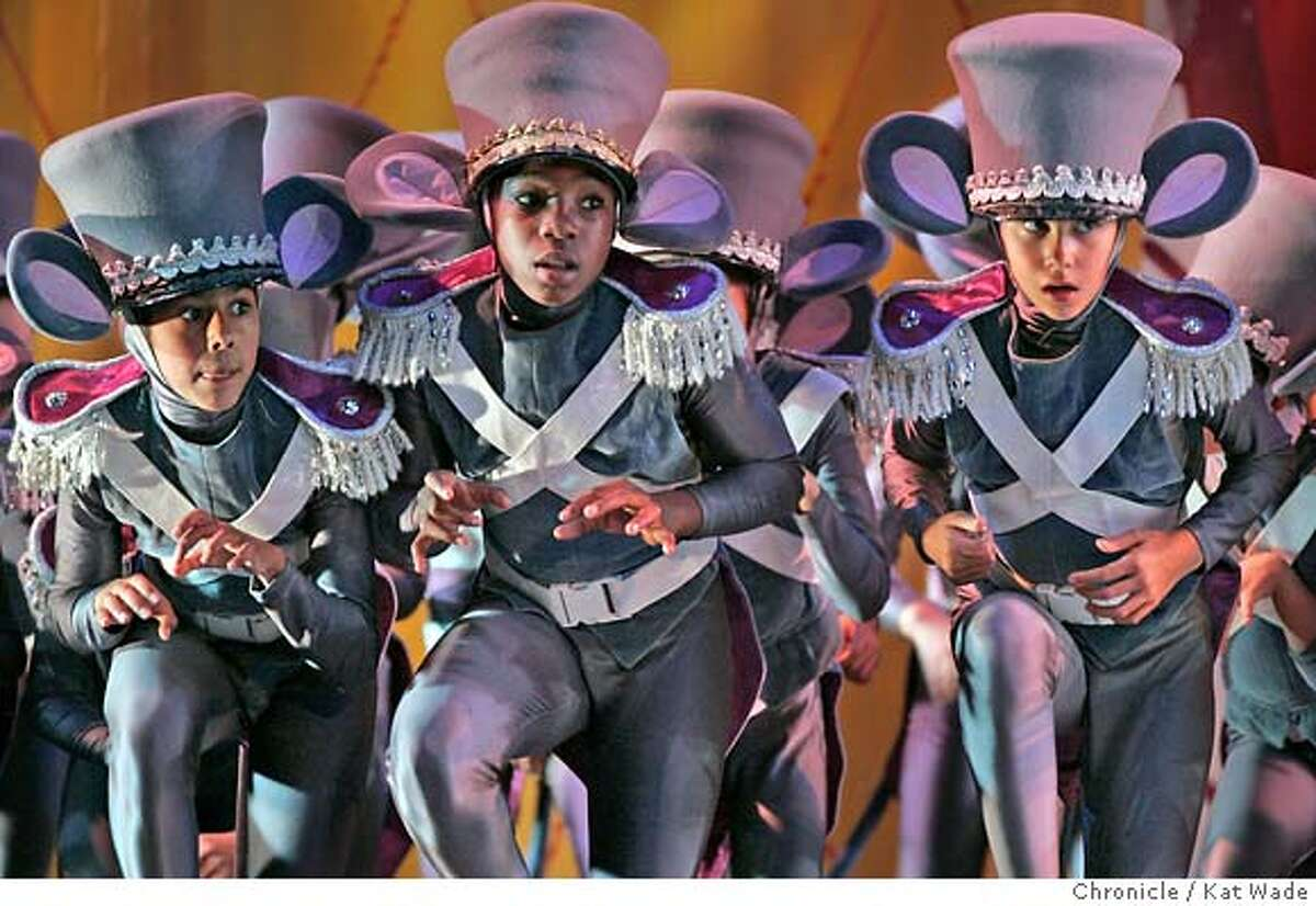 SJNUT_0105_KW_.jpg On 12/14/05 in San Jose the Mouse Kings mice forces (dancers from the Ballet San Jose Silicon Valley School) invade the Tannenbaum parlor during dress rehearsal of the Ballet San Jose Silicon Valley Dennis Nahat's The Nutcracker which opens tomorrow, December 15th, at the San Jose Center for the Performing Arts. Kat Wade/The Chronicle MANDATORY CREDIT FOR PHOTOG AND SF CHRONICLE/ -MAGS OUT