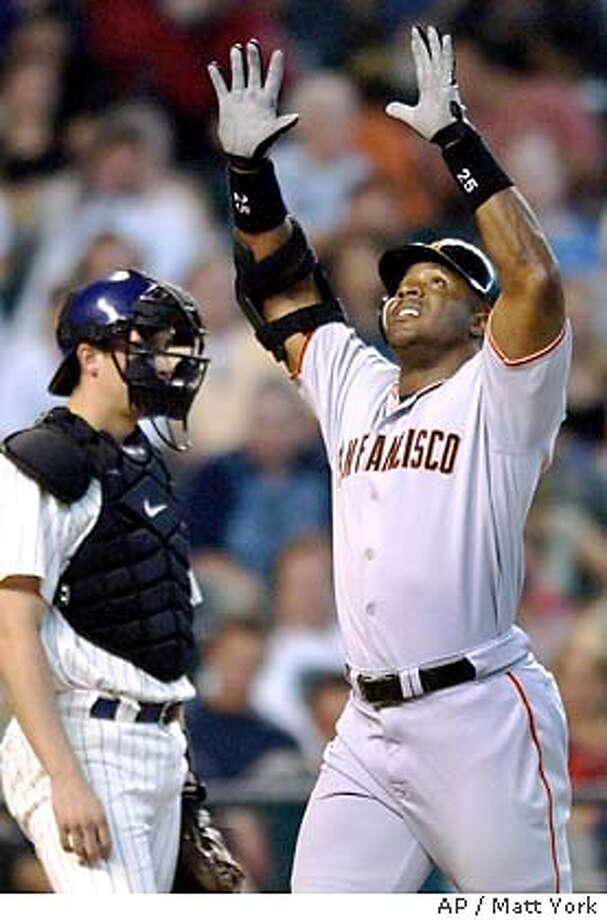09/20/03 | Color | 5star | full | B1 | Business | rico 8434 | Barry Bonds Photo: MATT YORK