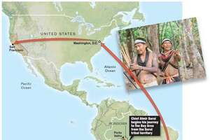 Google to harness satellite power for an Amazon tribe: When the Brazilian government failed to defend his tribe against loggers and miners, the leader found a high-tech ally. Chronicle Graphic