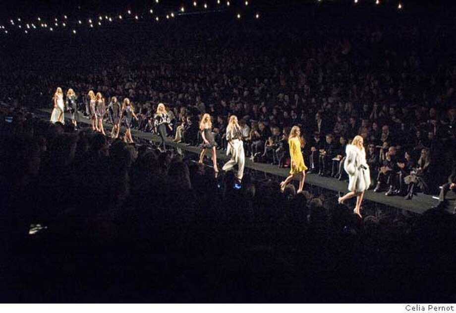 � Ungaro fashion show at the tent on the bassin du TrocadZ�ro Photo: Celia Pernot