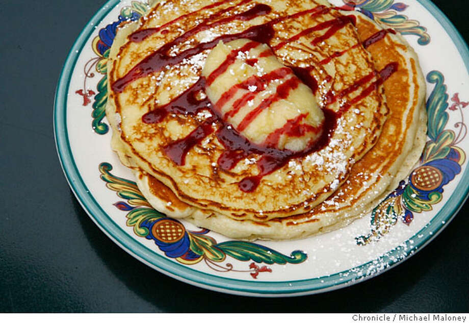Lemon-ricotta pancakes.  Zazie, 941 Cole St. San Francisco  Photo by Michael Maloney / San Francisco Chronicle Photo taken on 6/1/07 in San Francisco, CA Ran on: 06-10-2007  The lemon-ricotta pancakes at Zazie are called &quo;Miracle Pancakes,&quo; and they are divine. Photo: Michael Maloney