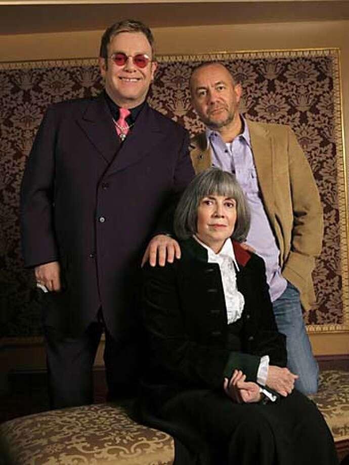 Elton John, Bernie Taupin, and Anne Rice  Photo by: Paul Kolnik LestatNovember 1, 2005Credit Photo �Paul KolnikNew York City 212.362.7778studio@paulkolnik.com