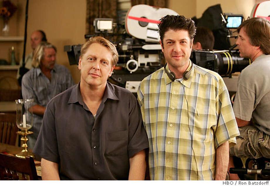 Screenwriting team Mark V. Olsen & Will Scheffer of HBO's Big Love Photo: HBO / Ron Batzdorff