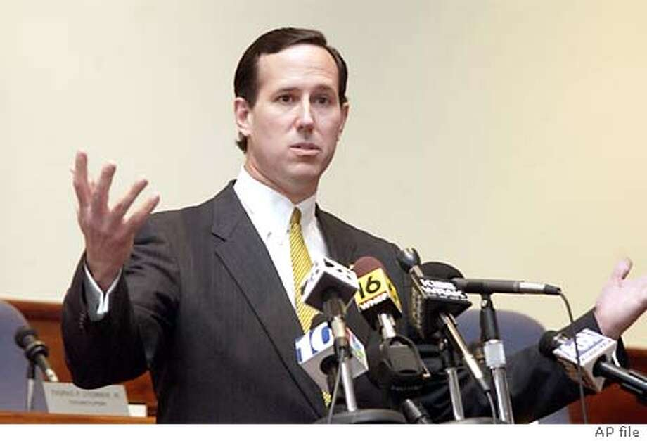 9/18/2003 | B/W | 5star | 4p11 x 1.25'' | a3 | A-Section | steve, 6026 | Santorum Photo: RALPH WILSON