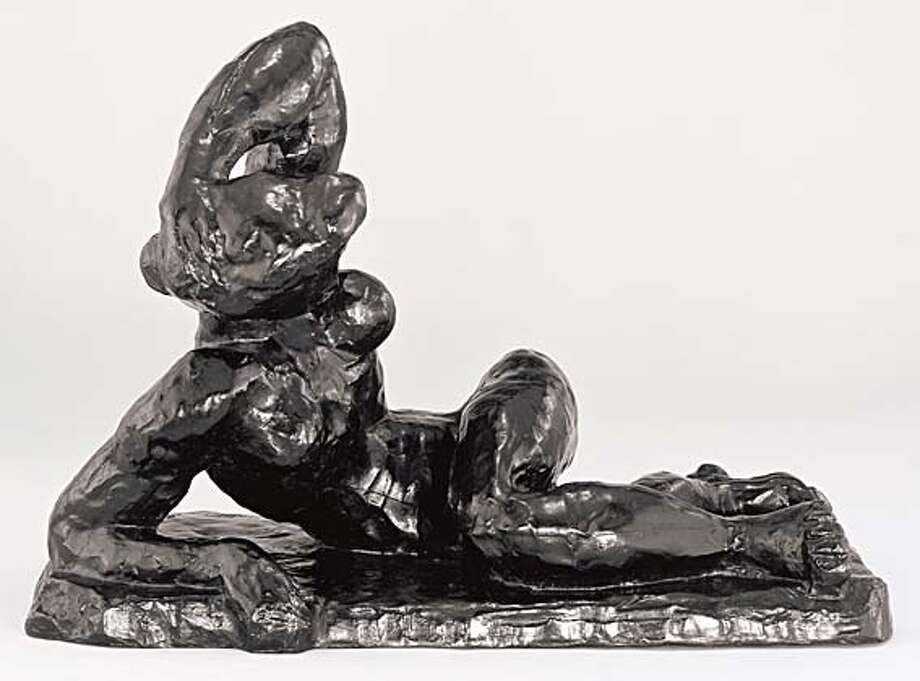 2. Henri Matisse, Reclining Nude I (Aurora), 1907; bronze; 13 9/16 x 19 5/8 x 11 in.; The Baltimore Museum of Art, The Cone Collection, formed by Dr. Claribel Cone and Miss Etta Cone of Baltimore, Maryland; � 2007 Succession H. Matisse, Paris/Artists Rights Society (ARS), New York Ran on: 06-09-2007  &quo;Large Reclining Nude- the Pink Nude,&quo; an oil on canvas by Henri Matisse, from 1935. Photo: -
