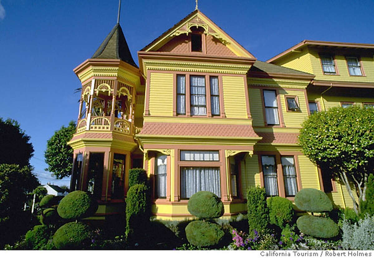 TRAVEL FERNDALE -- The Gingerbread Mansion bed-and-breakfast in Ferndale.