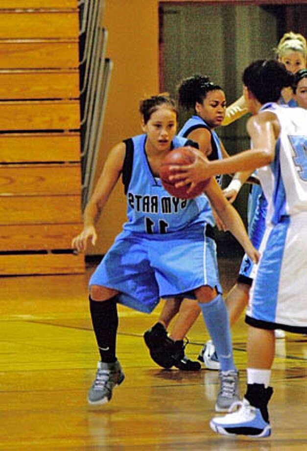 """""""Defense"""" photo: Amanda Johnson (No. 11) gets defensive while playing for Maria Carrillo. Credit: HO Photo: HO"""