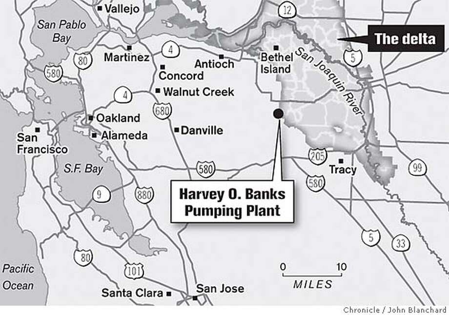 Harvey O. Banks Pumping Plant. Chronicle Graphic