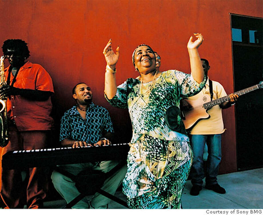 Cape Verde vocalist Cesaria Evora. Photo: Courtesy Of Sony BMG