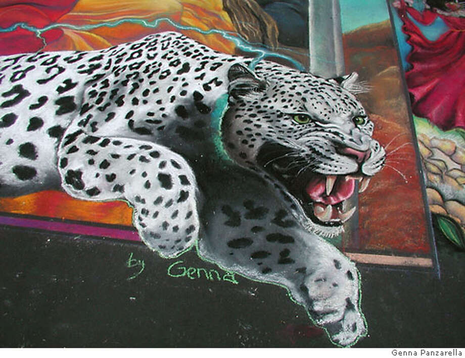 work by artist Genna Panzarella, participant in the San Rafael Street Art Festival Photo: Genna Panzarella