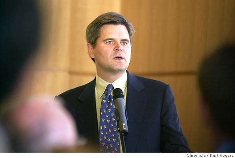 Steve Case talked about his brother at the Dedication of Dan Case Plaza in memory of late CEO of Hambrecht & Quist ,They placed a plaque in the plaza in his name .He one of the citys most important investment bankers . Event on 6/27/03 in San Francisco. KURT ROGERS / The Chronicle Photo: KURT ROGERS