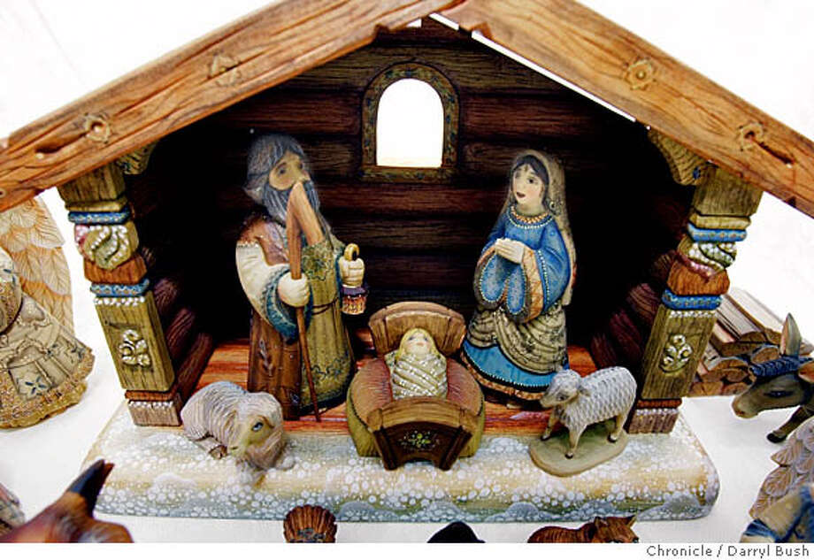 "nativity14_0002_db.jpg  ""Nativity scene,"" made by G. Brekht Artistic Studios imported from Russia on sale at The Paulist Center at Old Saint Mary's gift store on Grant Ave. near Chinatown.  Event on 12/3/05 in San Francisco.  Darryl Bush / The Chronicle MANDATORY CREDIT FOR PHOTOG AND SF CHRONICLE/ -MAGS OUT Photo: Darryl Bush"