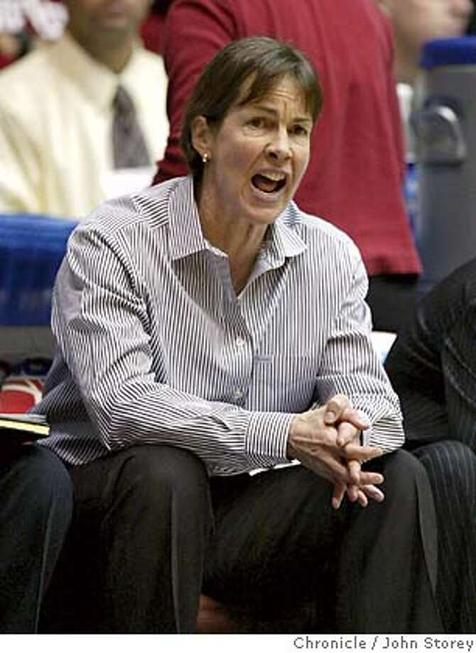 B42G0507.JPG  Stanford coach Tara Van Derveer yells during the game. Stanford Cardinal vs. the Michigan State Spartans in the NCAA Regional Women's Basketball Championship in Kansas City. John Storey Kansas City Event on 3/29/05 Ran on: 03-30-2005  Tara VanDerveer could yell but, ultimately, she could not will her Cardinal team to victory over Michigan State. &quo;It felt like we were being held under water,&quo; she said. Ran on: 03-30-2005  Tara VanDerveer could yell but, ultimately, she could not will her Cardinal team to victory over Michigan State. &quo;It felt like we were being held under water,&quo; she said. MANDATORY CREDIT FOR PHOTOG AND SF CHRONICLE/NO SALES-MAGS OUT Photo: John Storey