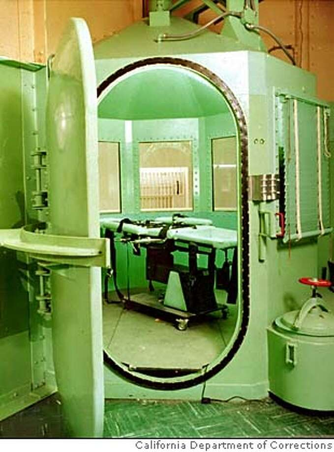 This is a California Department of Corrections photograph, taken January 1996, showing the entrance to the execution chamber and the lethal injection table at California's San Quentin Prison. On January 26, William Kirkpatrick Jr. will be taken to thisroom to be executed for the murder of two Burbank, Calif., fast-food workers.(AP Photo/California Dept. of Corrections) gas chamber ALSO RAN 4/26/02, 09/29/02 CAT Photo: Calif. Dept. Of Corrections