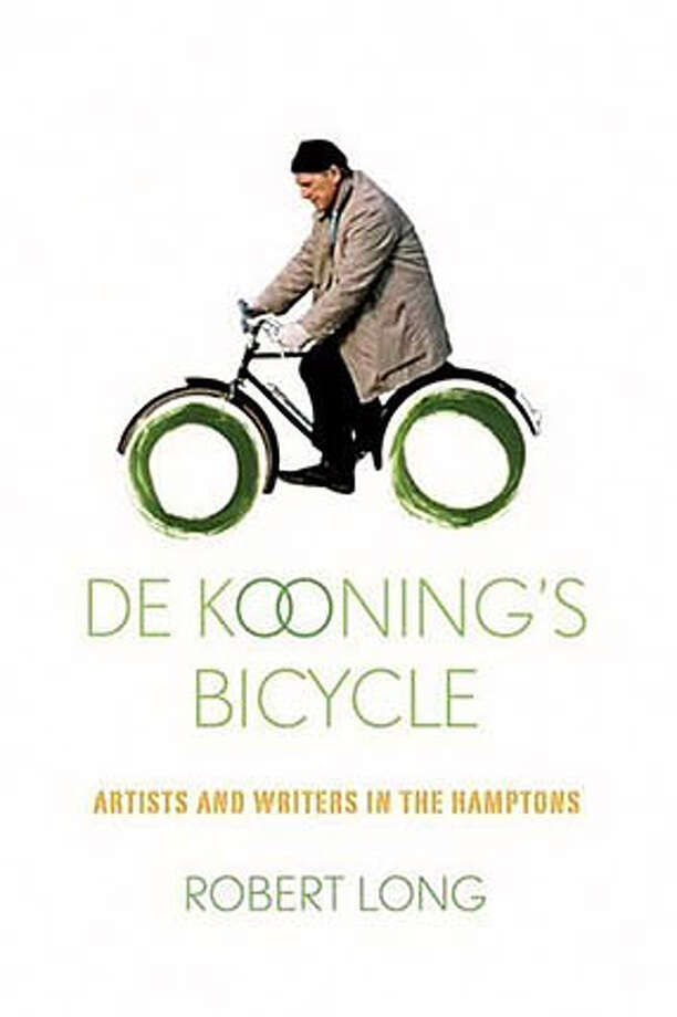 "Book cover art for, ""De Kooning's Bicycle : Artists and Writers in the Hamptons"" by Robert Long. Photo: No Byline"