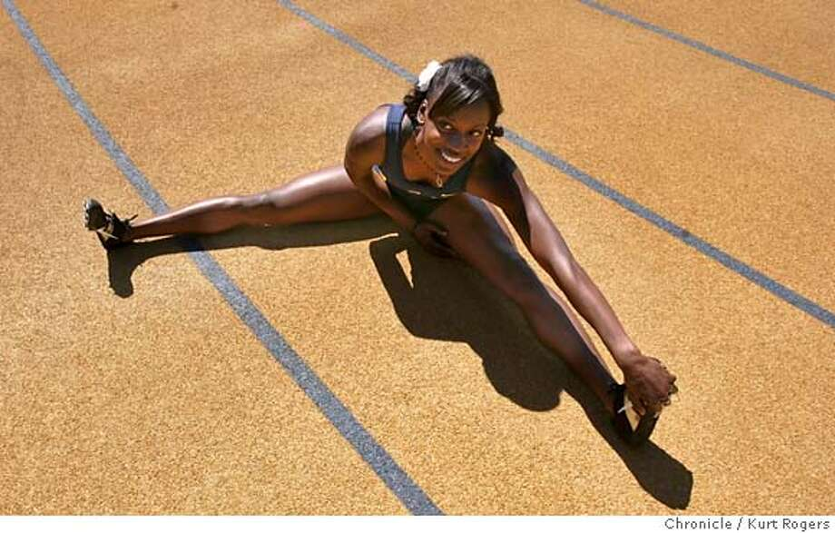 Alysia Johnson of Cal who is the nation's top collegiante 800 meter runner and the best American half -miler . She is at cal working out in preparation for the NCAA track championships in Sacramento in June. TUESDAY, MAY 22, 2007 KURT ROGERS BERKELEY SFC  THE CHRONICLE CALTRACK_JOHNSON_0244_kr.jpg MANDATORY CREDIT FOR PHOTOG AND SF CHRONICLE / NO SALES-MAGS OUT Photo: KURT ROGERS