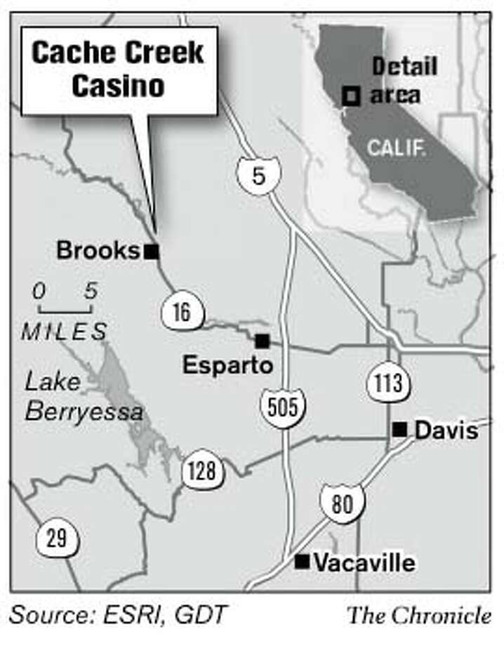 Cache Creek Casino. Chronicle Graphic