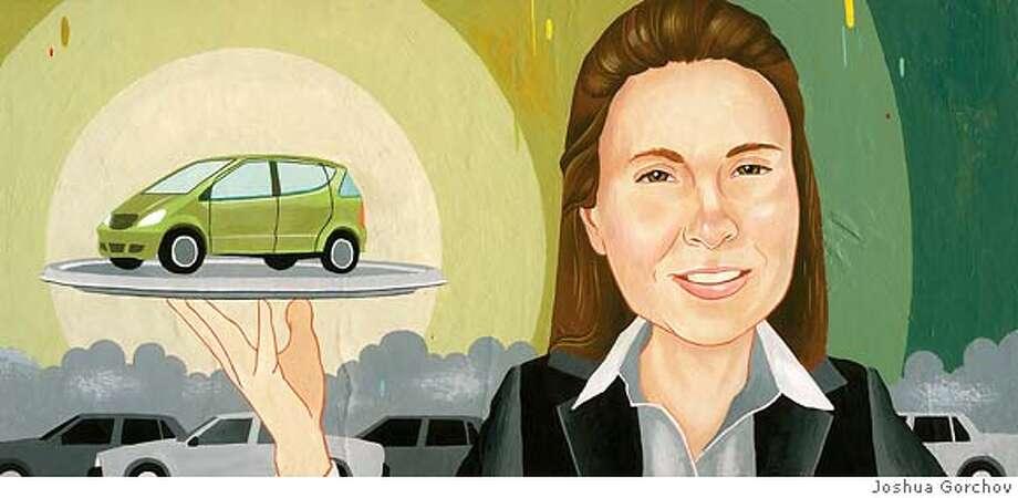 Portrait of Susan Shaheen for ILLUMINATIONS column in Sunday Magazine issue of 6-3-07