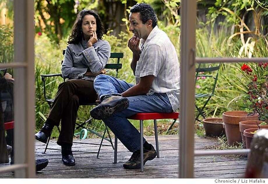 "Writer Julie Winokur and her husband, photographer  Ed Kashi have spent seven years creating ""Aging in America."" Shot on 9/8/03 in San Francisco. LIZ HAFALIA / The Chronicle Photo: LIZ HAFALIA"