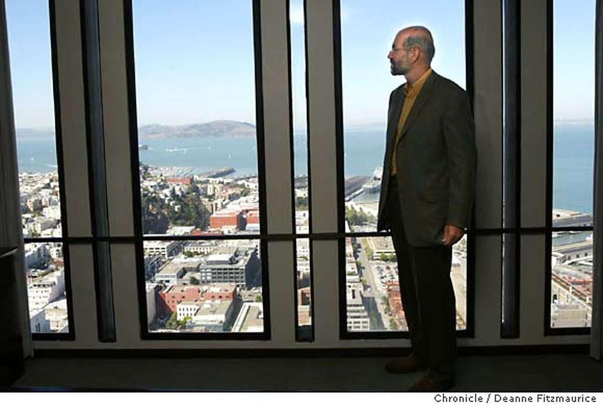 gruener_001_df.JPG Venture capitalist, Garrett Gruener, is a Democrat running for governor of California. He is in his San Francisco office on the 40th floor of Embarcadero One. Shot on 9/11/03 in San Francisco. DEANNE FITZMAURICE / The Chronicle