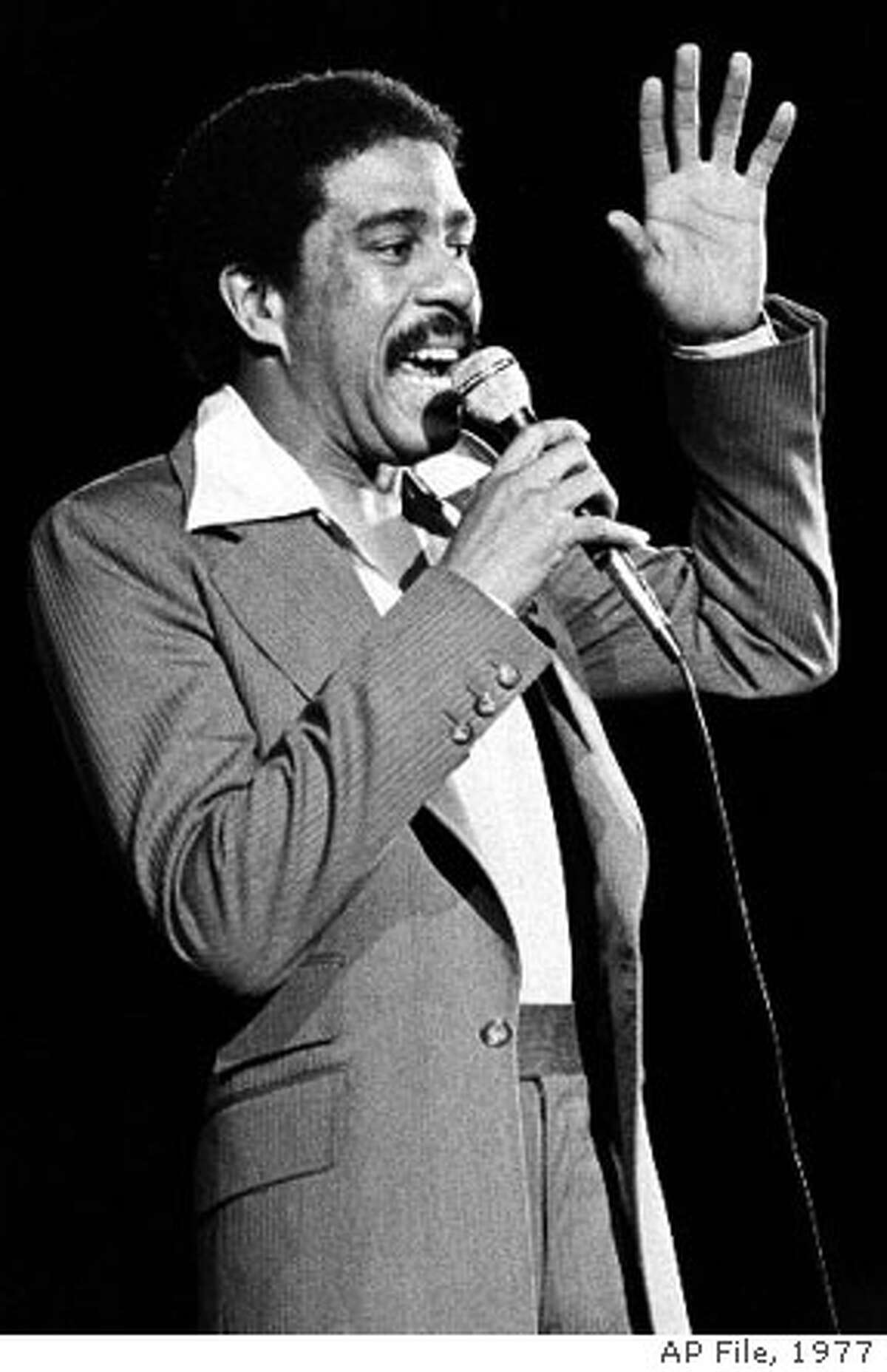 Richard Pryor talked bluntly and worked his own ordeals into his comedy. Associated Press File Photo, 1977