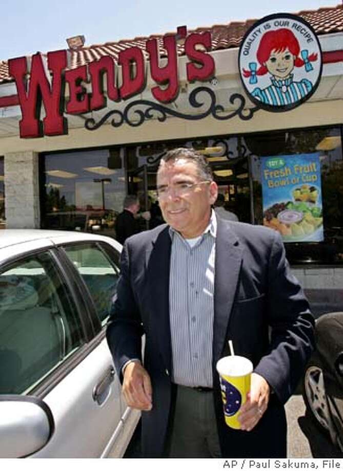 San Jose Mayor Ron Gonzales leaves a the Wendy's restaurant in San Jose, Calif., Friday, June 3, 2005, in San Jose, Calif., where Anna Ayala claimed she found a finger in a bowl of chili. Ayala is charged with conspiracy to commit fraud, attempted grand theft and grand theft in connection with the March 22, 2005 incident. (AP Photo/Paul Sakuma) Ran on: 06-14-2005  Mayor Ron Gonzalez said the grand jury report &quo;demonstrates a reckless disregard for fact.&quo; Ran on: 06-14-2005  Mayor Ron Gonzales said the grand jury report &quo;demonstrates a reckless disregard for fact.&quo; Ran on: 06-14-2005  Ron Gonzales Ran on: 06-14-2005  Mayor Ron Gonzales said the grand jury report &quo;demonstrates a reckless disregard for fact.&quo; STAND ALONE PHOTO Photo: PAUL SAKUMA