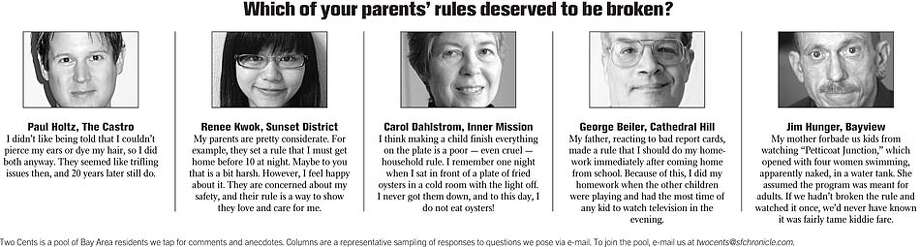 Two Cents: Which of your parents' rules deserved to be broken?