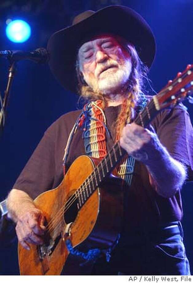 "** FILE ** Willie Nelson performs during the ""Tsunami Relief Austin to South Asia"" concert at the Austin Music Hall in Austin, Texas in a file photo from Jan. 9, 2005. Nelson is returning to Fort Worth for his Fourth of July picnic, and he's bringing Bob Dylan with him. (AP Photo/Kelly West) Ran on: 04-27-2005  Willie Nelson plays tonight at Luther Burbank Center, Santa Rosa. Ran on: 11-25-2005  Tim Bluhm and the Mother Hips play the Great American Music Hall on Dec. 16. JAN. 9, 2005 FILE PHOTO Photo: KELLY WEST"