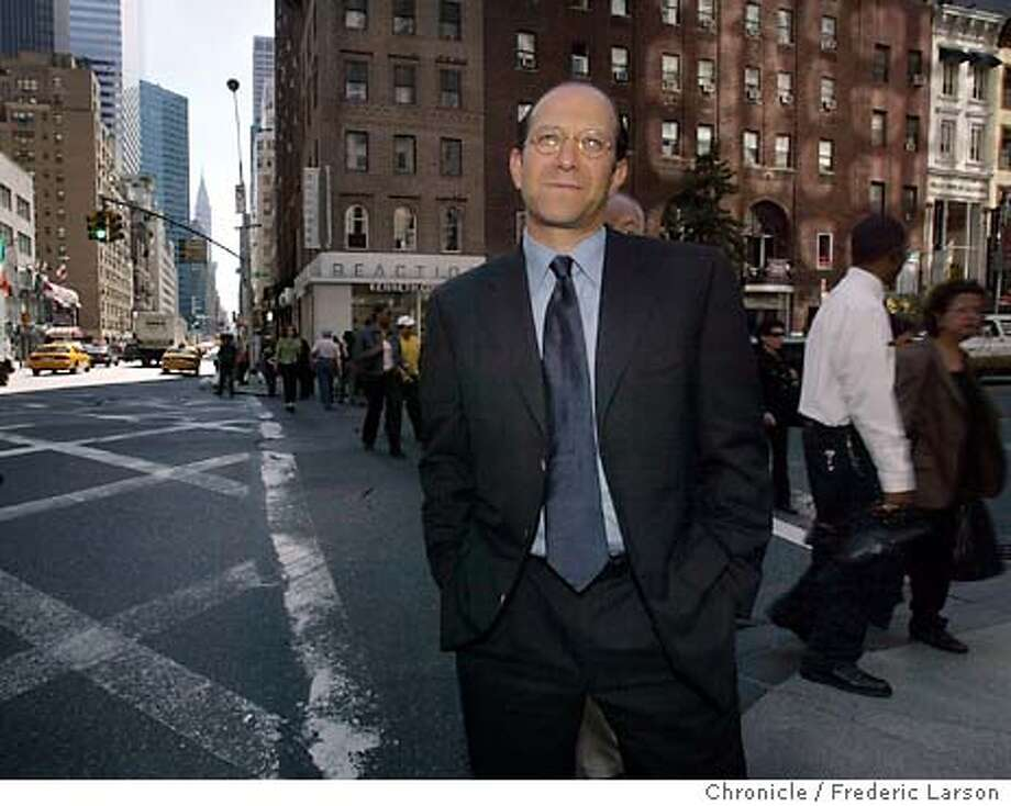 Howard Lutnick, chief financial officer of Cantor/Fitzgerald, who saw 685 employees perish when the plane crashed into the Twin Towers on 9/11/2001.New York City 09/10/03 FREDERIC LARSON / The Chronicle Photo: FREDERIC LARSON