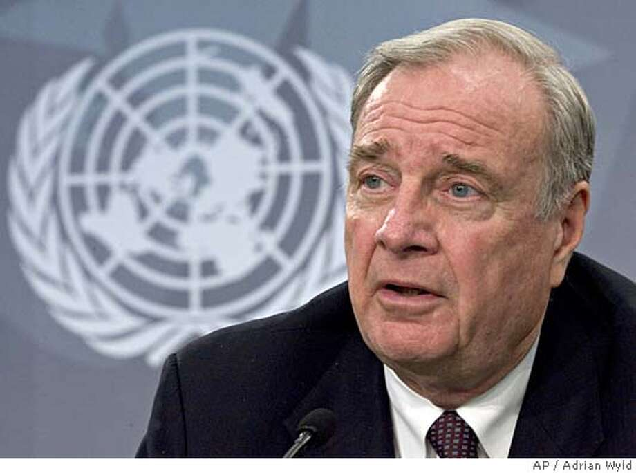 Canadian Prime Minister Paul Martin responds to a question at a news conference at the United Nations Climate Change conference in Montreal, Wednesday Dec. 7, 2005. (AP PHOTO/CP, Adrian Wyld) Photo: ADRIAN WYLD