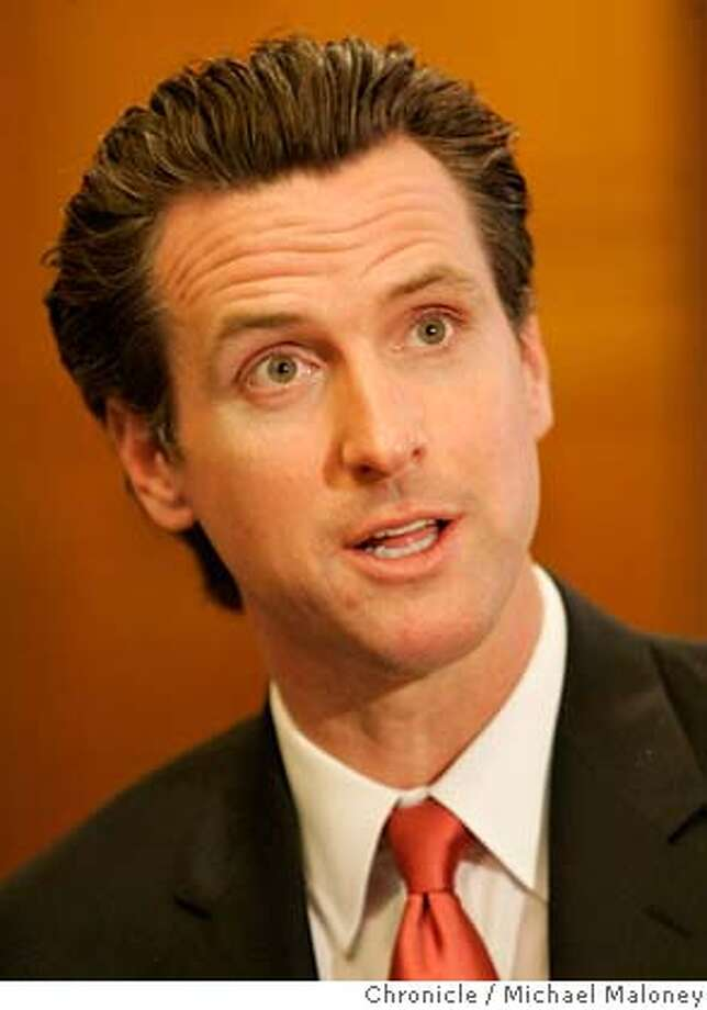 Mayor Gavin Newsom  Mayor Gavin Newsom and Municipal Transportation Agency Director Nathaniel Ford held a roundtable discussion today April 11, 2007 at City Hall that focused on various San Francisco transportation issues Photo by Michael Maloney / San Francisco Chronicle ***Gavin Newsom, Nathaniel Ford  Ran on: 05-04-2007  Mayor Gavin Newsom MANDATORY CREDIT FOR PHOTOG AND SF CHRONICLE/NO SALES-MAGS OUT Photo: Michael Maloney