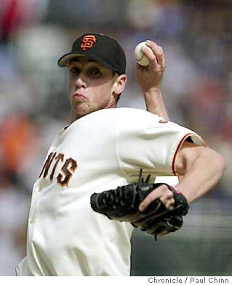 giants094_pc.jpg Rookie Jesse Foppert pitched 5 1/3 innings to earn his first Major League victory Saturday. The Giants vs. Cincinnati Reds at Pacific Bell Park on 5/3/03 in San Francisco. PAUL CHINN / The Chronicle Photo: PAUL CHINN