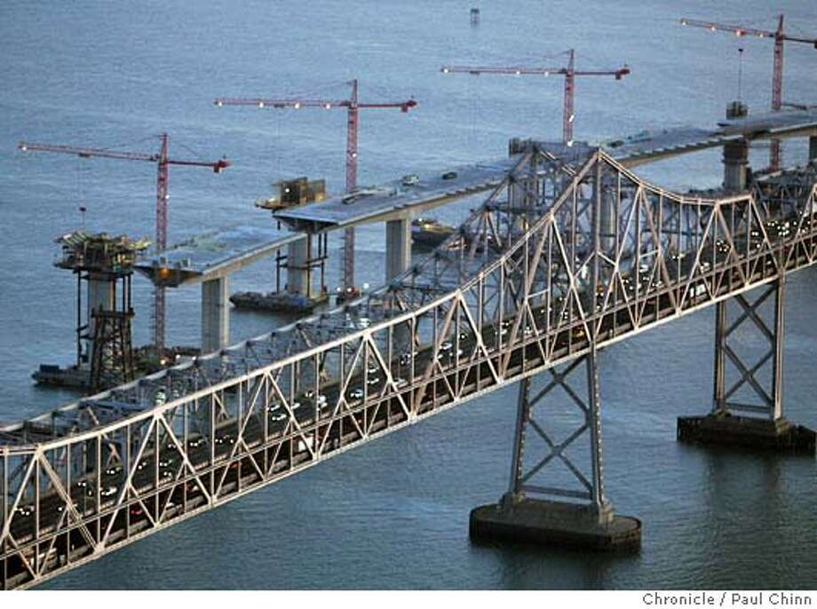 Aerial views of the Bay Bridge construction project on 12/6/05 in San Francisco, Calif.  PAUL CHINN/The Chronicle Photo: PAUL CHINN