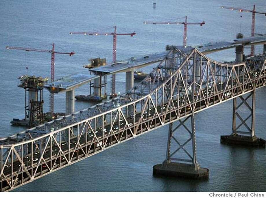 Aerial views of the Bay Bridge construction project on 12/6/05 in San Francisco, Calif.  PAUL CHINN/The Chronicle Photo: PAUL CHINN