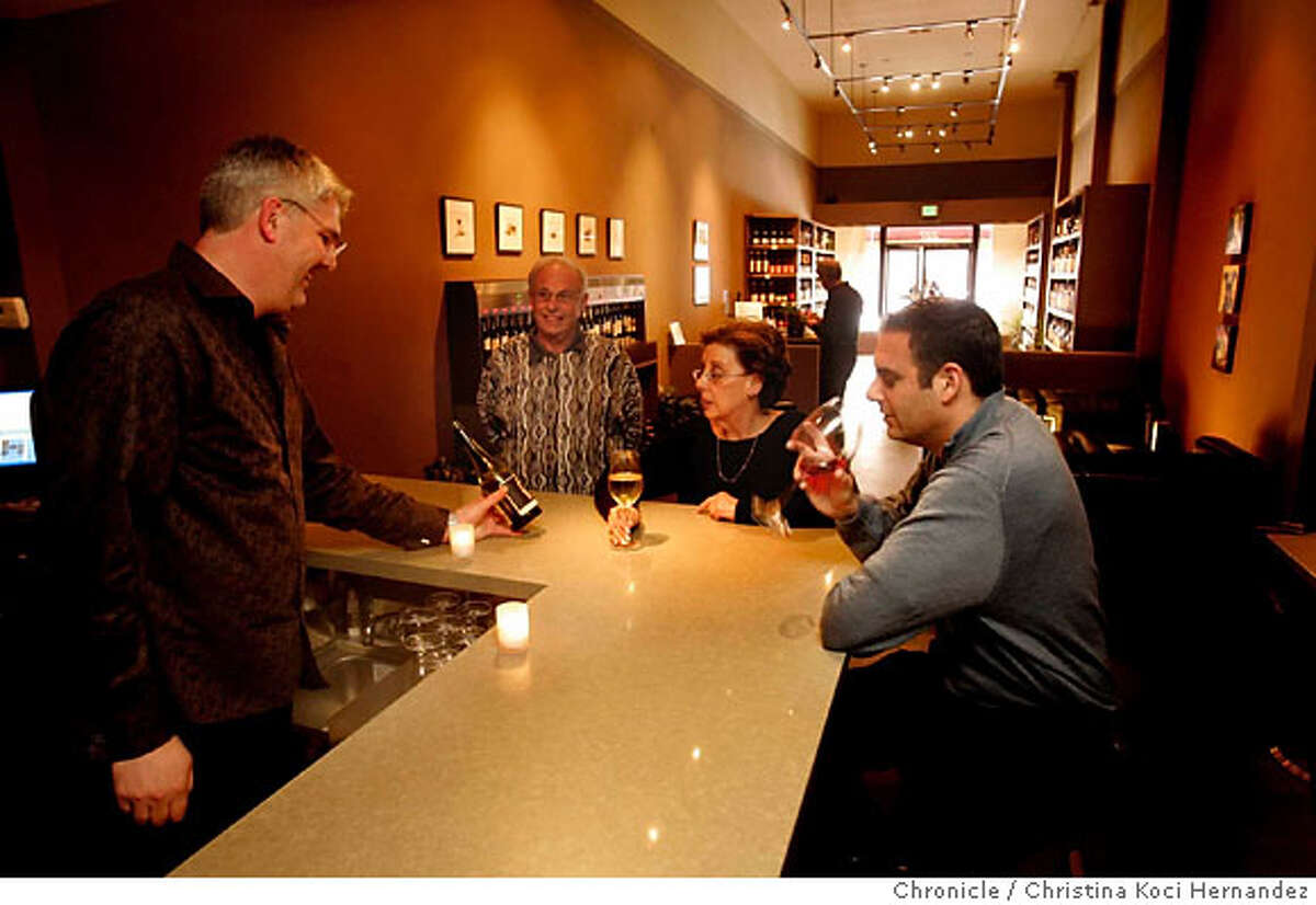Owner , Brian Snelling, at the wine bar.96 Hours Bar Bites feature the scene, people, food and drink at 750 ML. This is a wine bar in San Mateo .(Christina Koci Hernandez/The Chronicle)