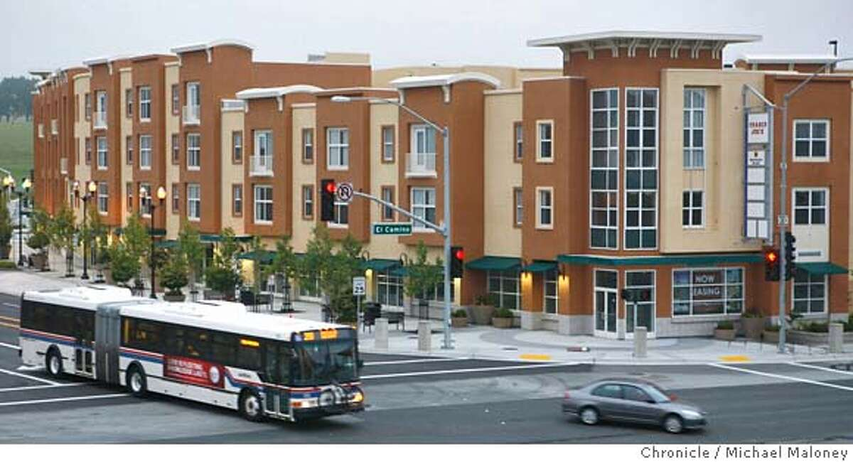 """Solaire, is a four story new """"transit village"""" next to the South San Francisco BART station. Retail space including a Trader Joe's is located on the 1st floor of some of the units. Solaire is located just off of El Camino Real in South San Francisco. Photo by Michael Maloney / San Francisco Chronicle MANDATORY CREDIT FOR PHOTOG AND SF CHRONICLE/NO SALES-MAGS OUT"""