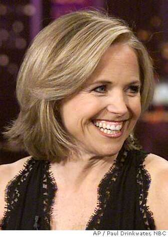 "As part of ""The Today's Show, Trading Places,"" Katie Couric guest hosts the ""Tonight Show With Jay Leno,"" taped in Burbank, Calif., while Leno co-anchored "" The Today Show,"" from New York, Monday, May 12, 2003. Couric's guests included Mike Myers and ""American Idol"" judge Simon Cowell. (AP Photo/NBC-TV, Paul Drinkwater) CAT need for 1 pm release; thanks. Photo: PAUL DRINKWATER"