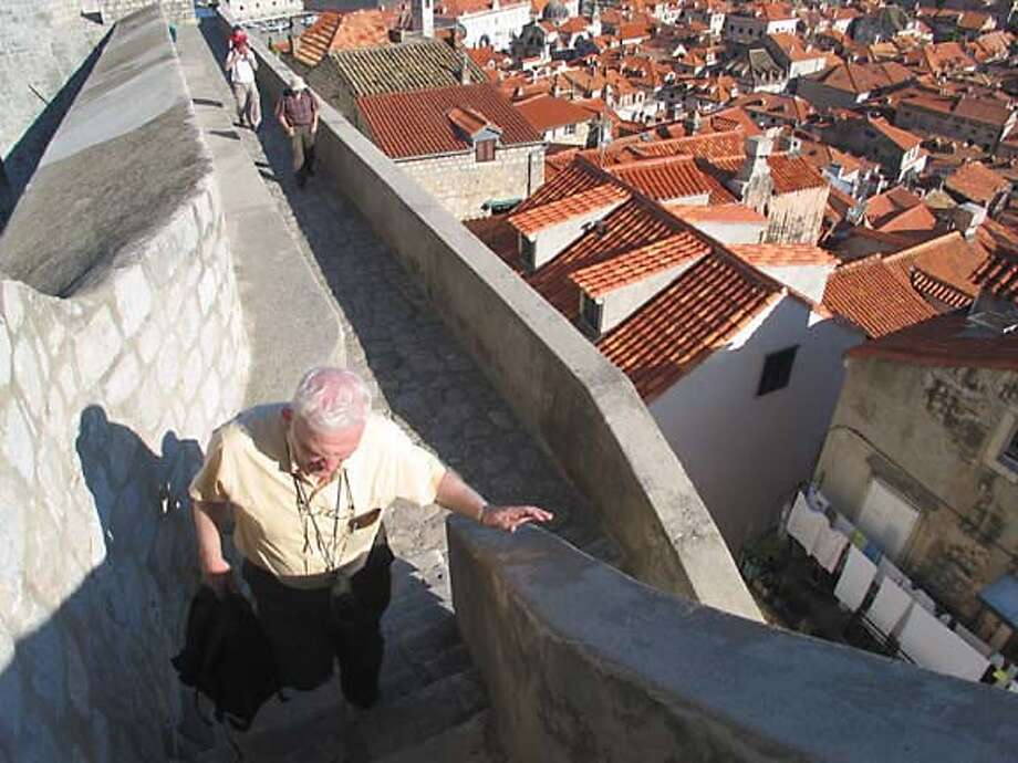 TRAVEL CROATIA -- Along the city walls of Dubrovnik. Photo: John Flinn