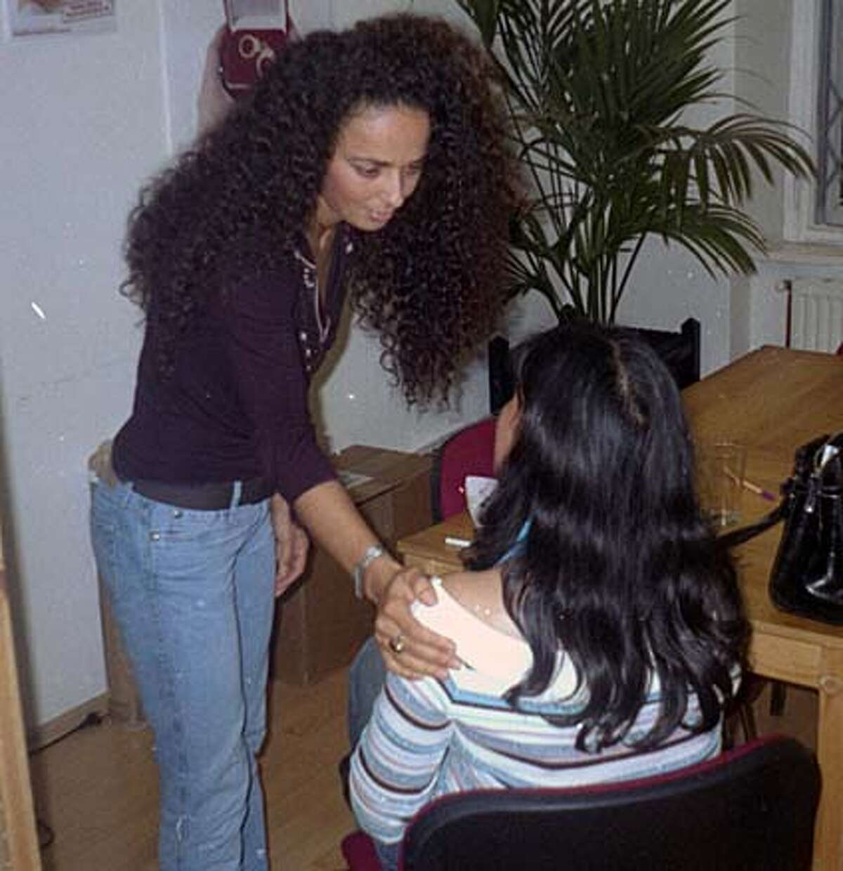 austria_abuse6.jpg Meltem Weiland a Turkish-born volunteer counsels Angela, an Indian woman who escaped a forced marriage.